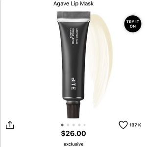 New Bite Beauty Agave Lip Mask in Clear